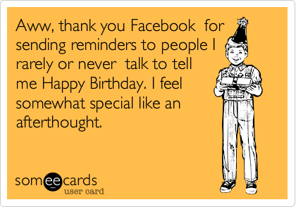 Aww, thank you Facebook  for