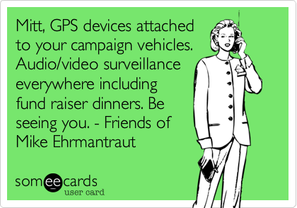 Mitt, GPS devices attached