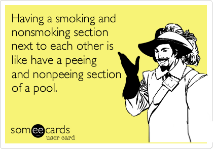 Having a smoking and