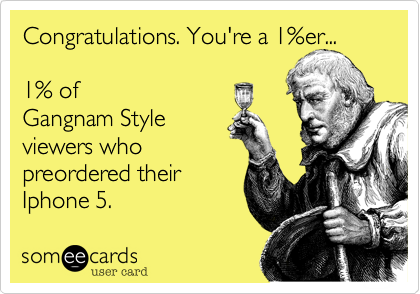 Congratulations. You're a 1%er... 