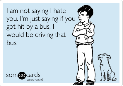 I am not saying I hate