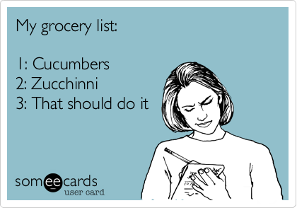 My grocery list: