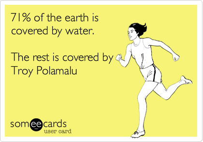 71% of the earth is
