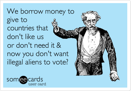 We borrow money to