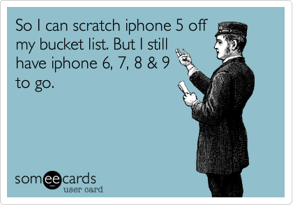 So I can scratch iphone 5 off