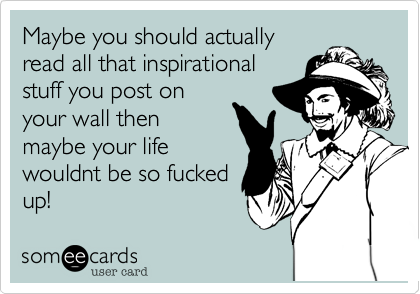 Maybe you should actually