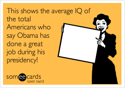 This shows the average IQ of