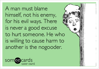 A man must blame