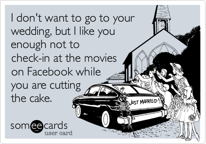 I don't want to go to your