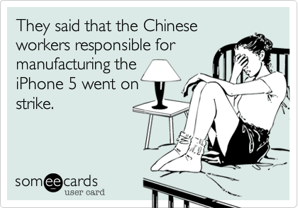 They said that the Chinese