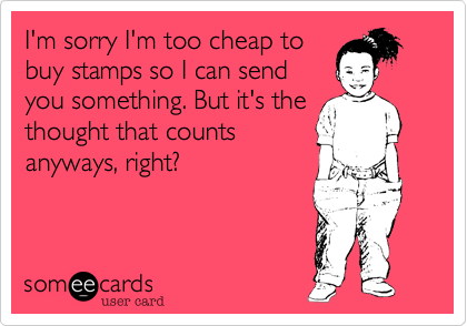 I'm sorry I'm too cheap to