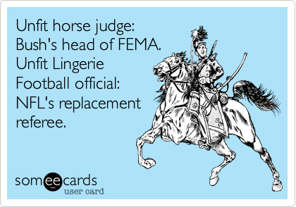 Unfit horse judge: 
