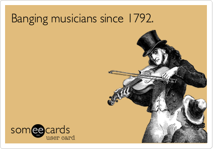 Banging musicians since 1792.