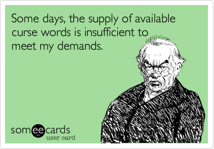 Some days, the supply of available curse words is insufficient to