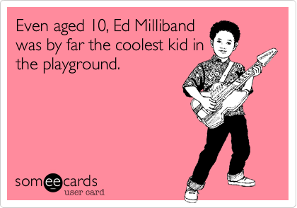 Even aged 10, Ed Milliband