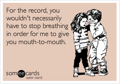 For the record, you