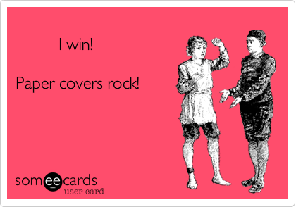I win! 