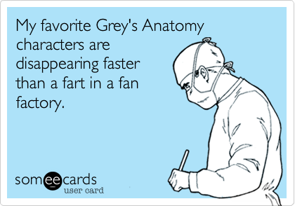 My favorite Grey's Anatomy characters are