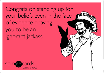 Congrats on standing up for