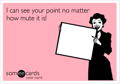 I can see your point no matter