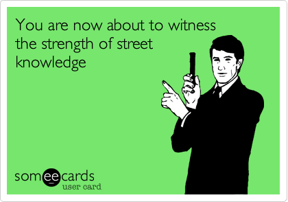 You are now about to witness