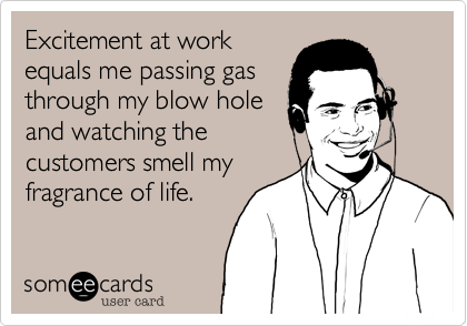Excitement at work