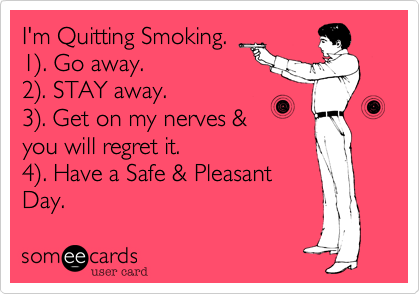 quit smoking quotes funny