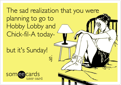 The sad realization that you were