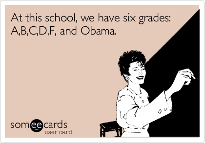 At this school, we have six grades: