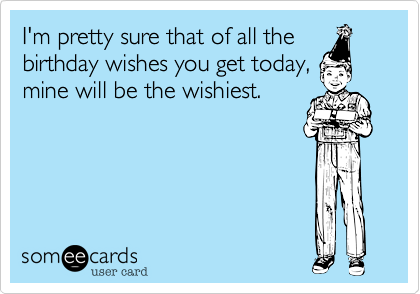 I'm pretty sure that of all the