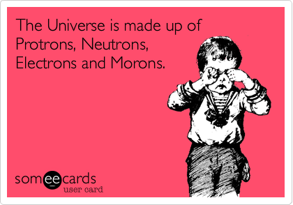 The Universe is made up of Protrons, Neutrons, 