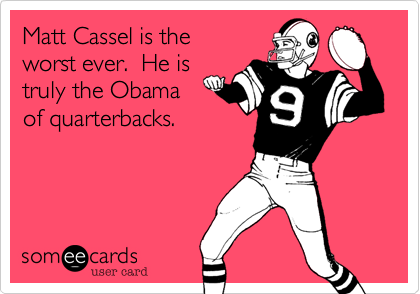 Matt Cassel is the