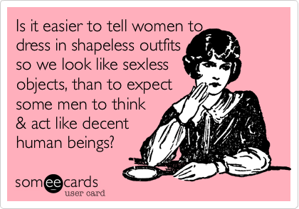Is it easier to tell women to 