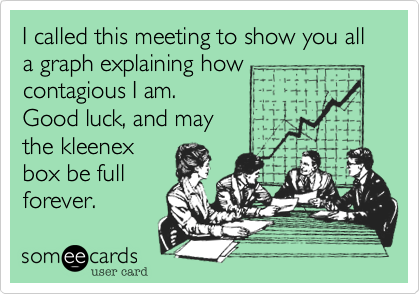 I called this meeting to show you all a graph explaining how