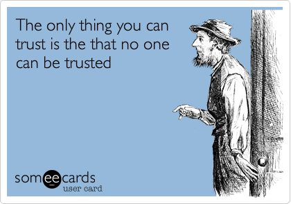 The only thing you can