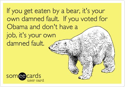 If you get eaten by a bear, it's your