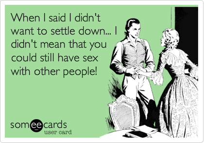 When I said I didn't