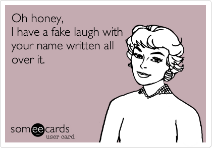 Oh honey,
