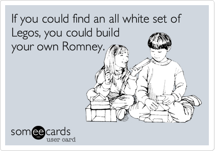 If you could find an all white set of Legos, you could build