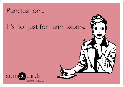 Punctuation...