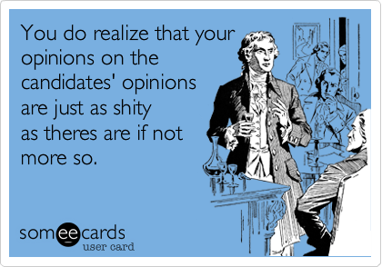You do realize that your
