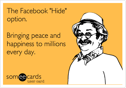 "The Facebook ""Hide""