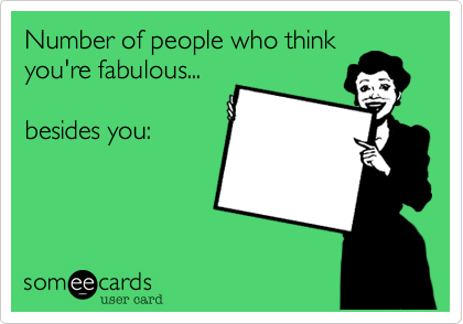 Number of people who think
