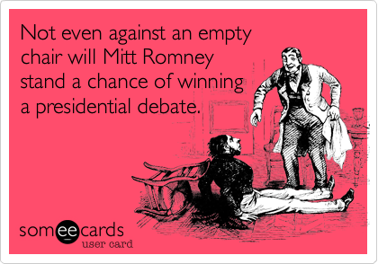 Not even against an empty