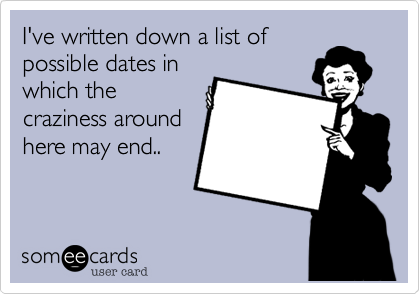 I've written down a list of