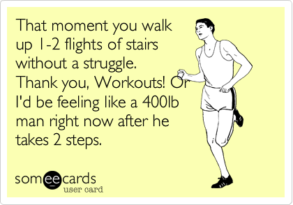 That moment you walk