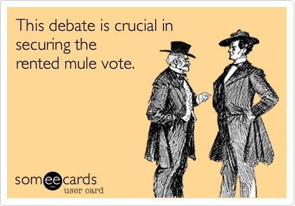 This debate is crucial insecuring therented mule vote.