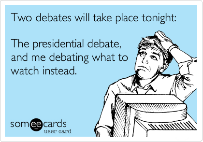 Two debates will take place tonight: 