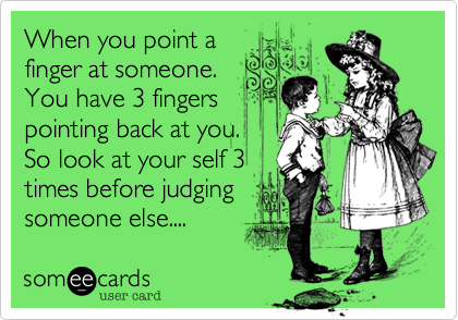 When you point a
