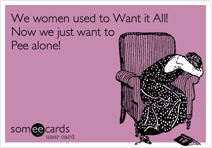 We women used to Want it All!  Now we just want to